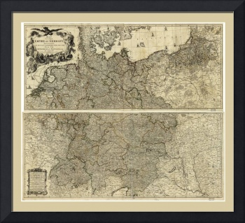 Map of the Empire of Germany by Louis Delarochette