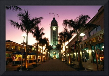 Hawaii, Oahu, View Of Aloha Tower Marketplace At D