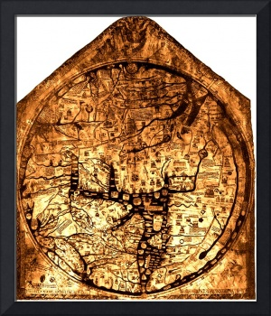 Hereford Mappa Mundi 1300 Brown & Tan