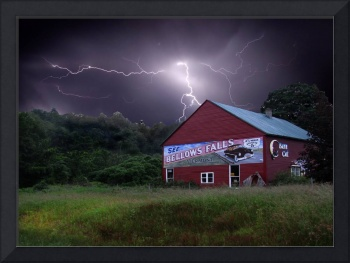 Bellows Falls Mural with Lightning