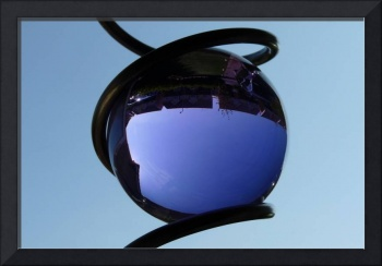 Blue Sky through Glass Ball