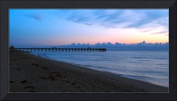 Sunrise Seascape Juno Beach Pier Florida C5