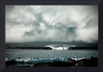a wave and a cloud