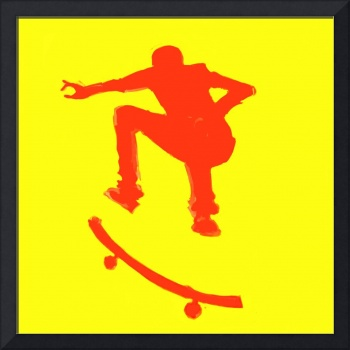 Skateboarder 2 . yellow red (c)