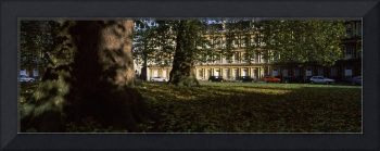 Residential buildings in autumn The Circus Bath S
