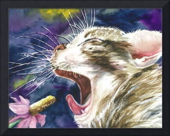 Karaoke Cat Style~Crop for Greeting Cards