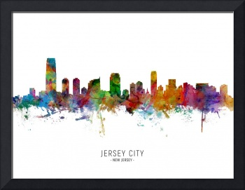 Jersey City New Jersey Skyline
