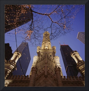 Winter Water Tower Chicago IL