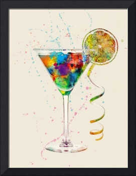 Cocktail Drinks Glass Watercolor