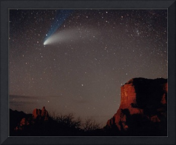 Comet Hale Bopp over Sedona by Laurie Larson