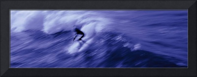 Person surfing in the sea
