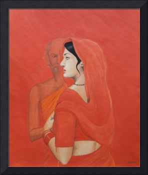 Painting Of Woman And Old Man