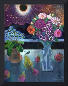 Still Life with Eclipse & Cosmos