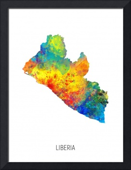 Liberia Watercolor Map