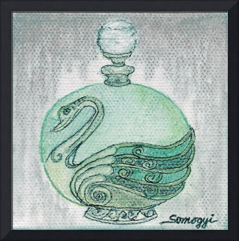 BOTTLED VERDIGRIS SWAN
