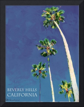Beverly Hills California poster print by RD Riccob