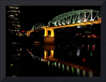 Nashville Bridge at Night