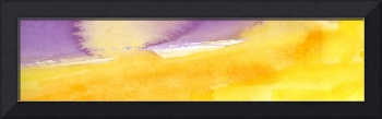 Panoramic Watercolor abstract clouds 6