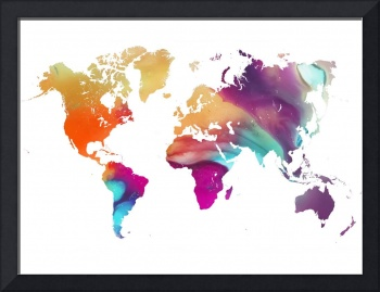 Colored world map