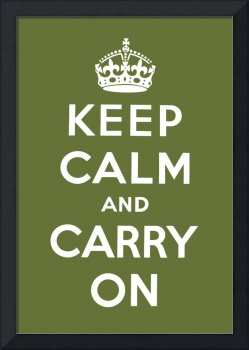 Green Keep Calm And Carry On 5