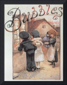 Poster advertising 'Bubbles' magazine