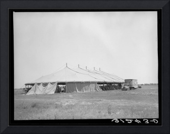 Tent of Lasses-White traveling circus. Lasses-Whit