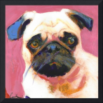 Pug Dog Pinkie large size