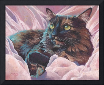 Original oil painting pet portrait cat