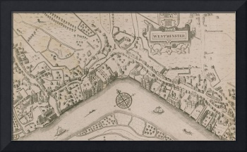 Plan of the City of Westminster (engraving), Engli