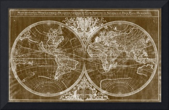 World Map (1691) Brown & White