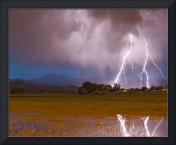 Lightning Striking Longs Peak Foothills 8C