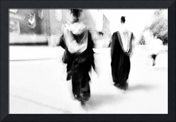 Graduation Abstract in Black and White