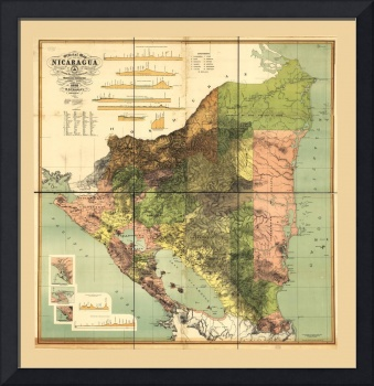 Official map of Nicaragua (1898)