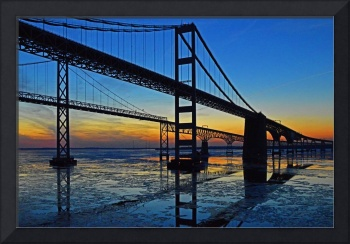 Chesapeake Bay Bridge Sunset Reflections