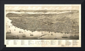 Vintage Map of Halifax Nova Scotia (1879)