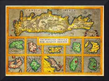 Ortelius Map of Crete Candia