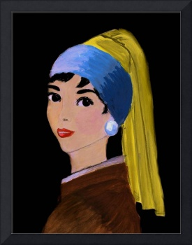 Audrey With a Pearl Earring