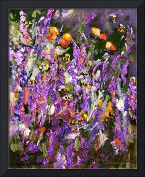 Provence Lavender & Bees Oil Painting