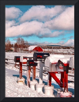 Mail Boxes and the Red Barn 240 1
