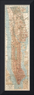 Vintage Map of New York City (1894)