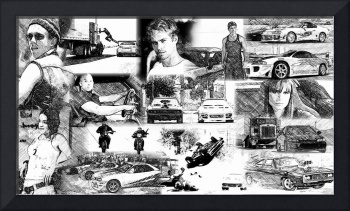 The Fast and the Furious Collage