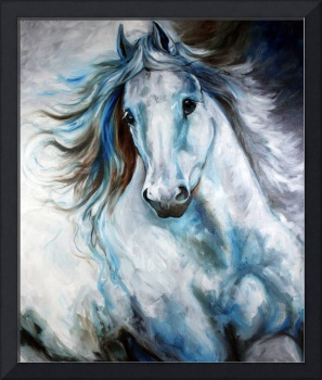 WHITE THUNDER ARABIAN EQUINE ABSTRACT