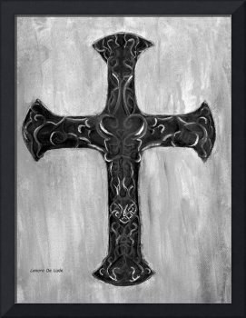 Cross with Calligraphy