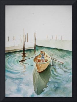 Watercolor Sandboats