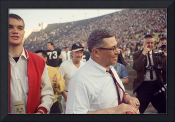 Vince Lombardi Holding Tie