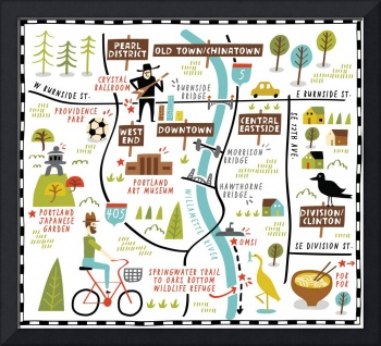 Illustrated Map of Portland by Nate Padavick