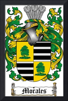 MORALES FAMILY CREST - COAT OF ARMS