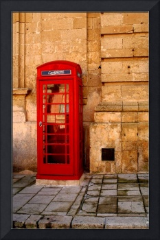 Red phone booth, Malta
