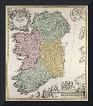 Map of Ireland showing the Provinces
