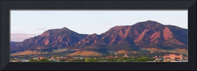 Boulder Colorado Flatirons 1st Light Panorama